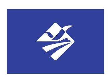 Vector Illustration of the South Korean Metropolitan City of Busan Flag icon