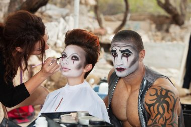 Clowns Getting Makeup
