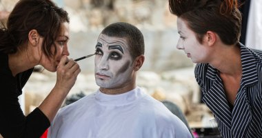 Cirque Clowns Backstage Makeup