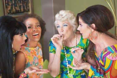 Women smoking a joint
