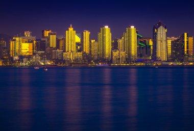 Glowing San Diego Skyline