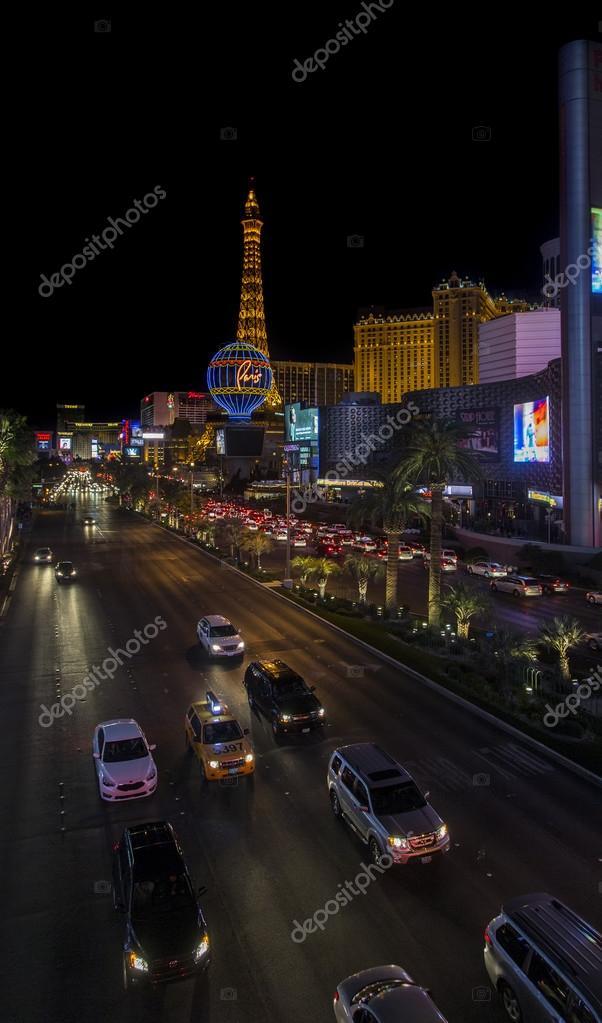 Cars on Busy Las Vegas Strip