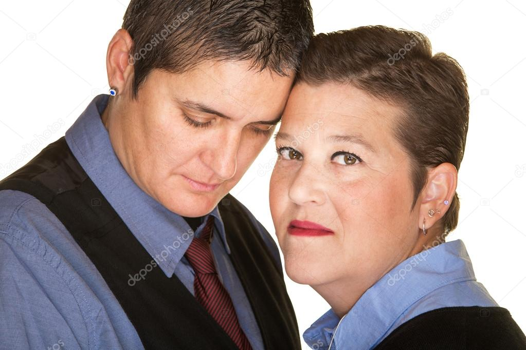 forgiving woman with butch partner stock photo creatista 73062057
