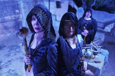 Three Witches in Black