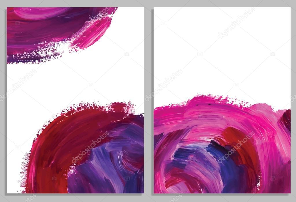 Cartes Darrire Plan Art Abstraits Acryliques Roses Collection De Dinvitation Illustration Vectorielle Vecteur Par Comotom0