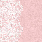 Elegant doily on lace gentle background.