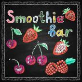 Smoothie bar. Lettering.