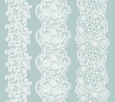 White lacy vintage elegant trim. Vector illustration. stock vector