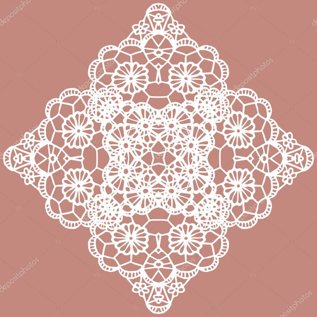 tapete de crochet blanco — Vector de stock © comotom0 #70909865