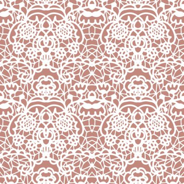 Lace white seamless mesh pattern