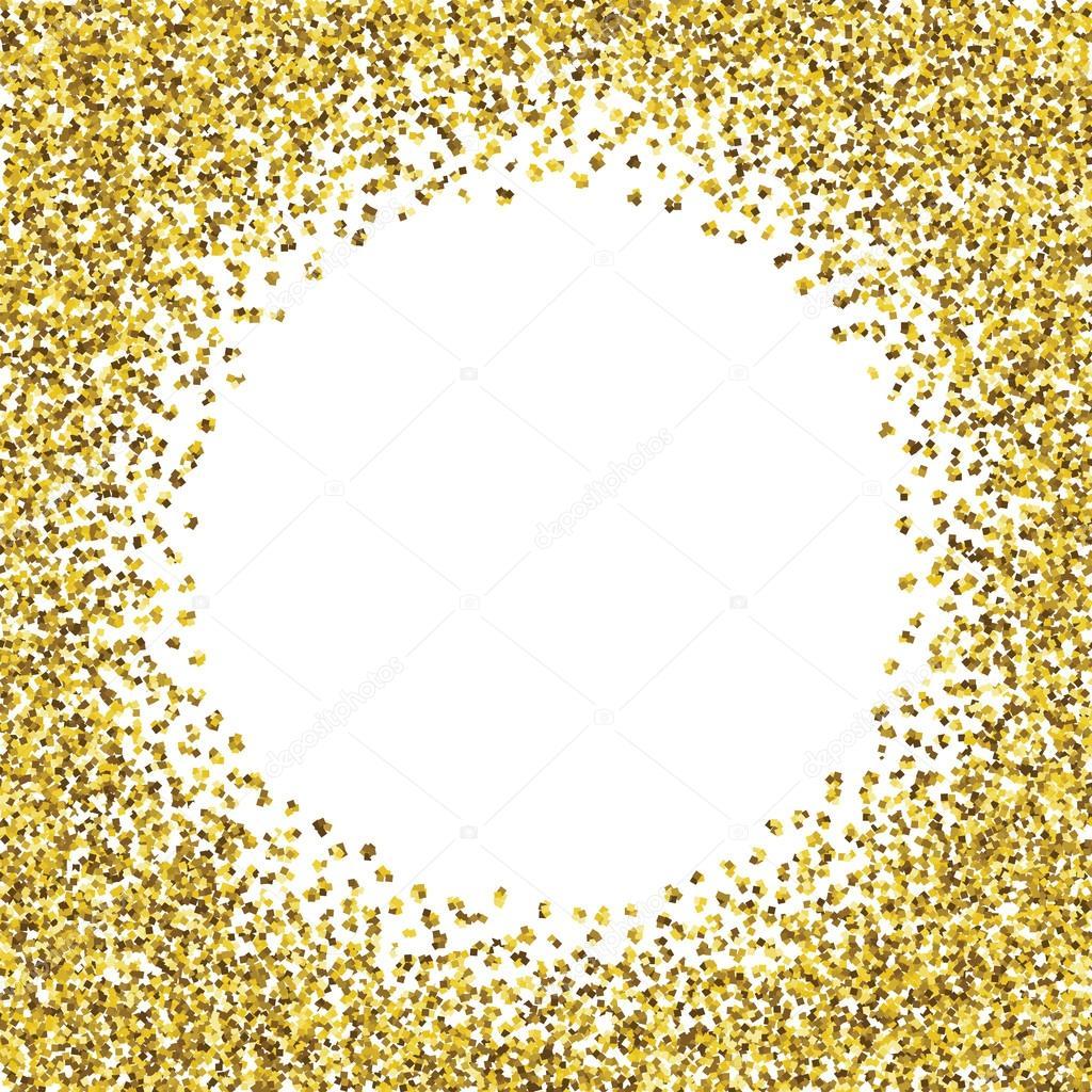 Runde Glitter gold Rahmen — Stockvektor © comotom0 #90300768