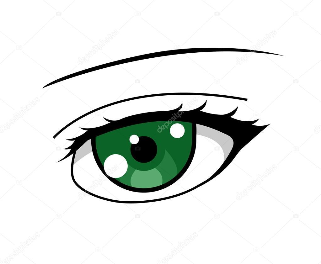 ojo verde de chica anime vector de stock  u00a9 witchera anime vector art anime vector images