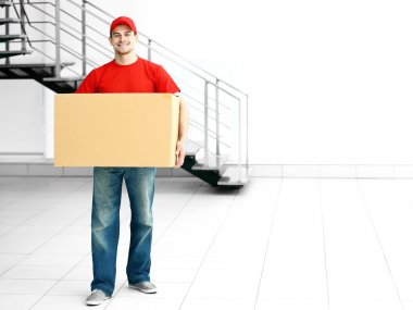 Man holding carton box