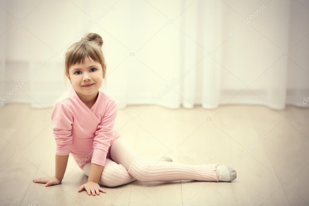 45be942b314f cute girl in pink leotard — Stock Photo © belchonock  100928532