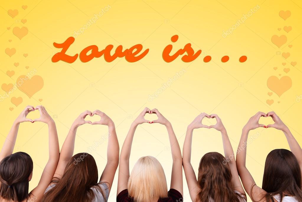 macht die Menschen Herzen mit Fingern — Stockfoto © belchonock ...
