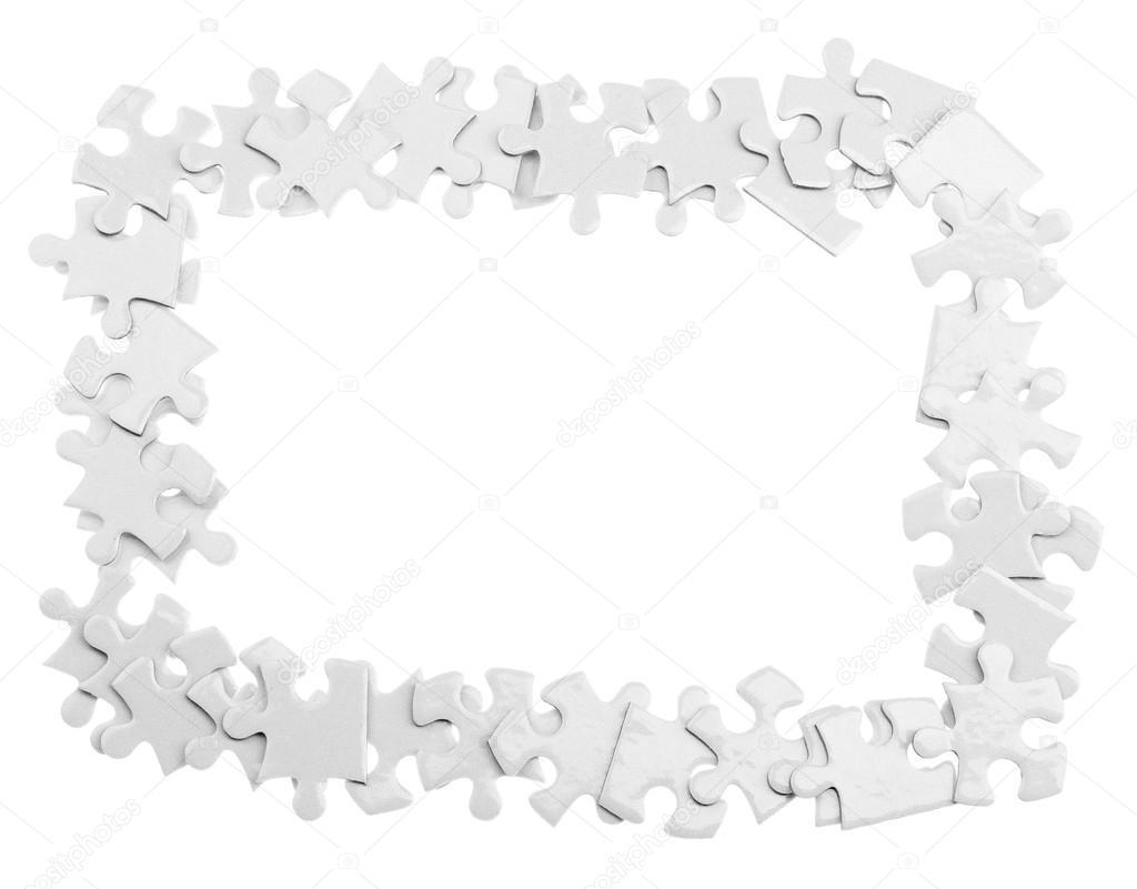Puzzle Rahmen, isoliert — Stockfoto © belchonock #102117724
