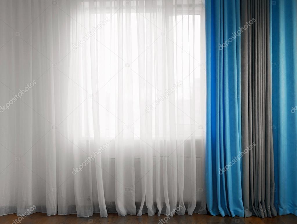 Cortinas azules cortinas azules venecianas de aluminio for Cortinas gris plata