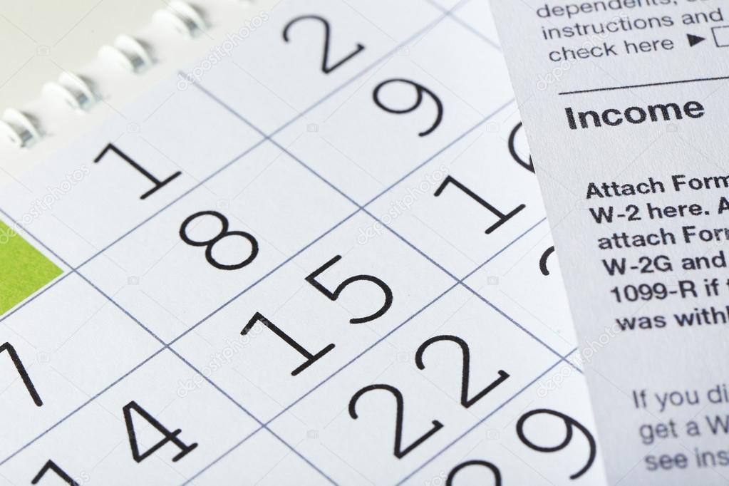 Imposta Calendario.Calendario Con Le Date E Modulo Di Imposta Foto Stock