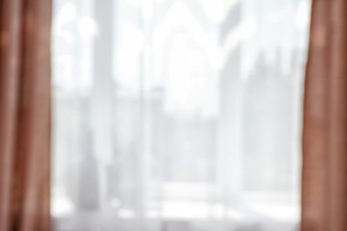 Blurred textile window