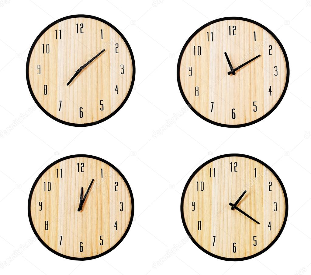 Collage Of Round Wall Clocks Stock Photo Belchonock 103978528