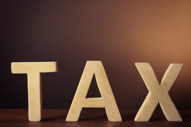 Wooden Word TAX