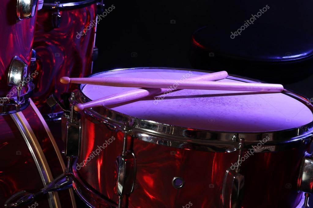 Drum Set On Stage Stock Photo C Belchonock 104350576