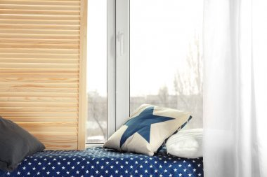 Warm and cozy window seat