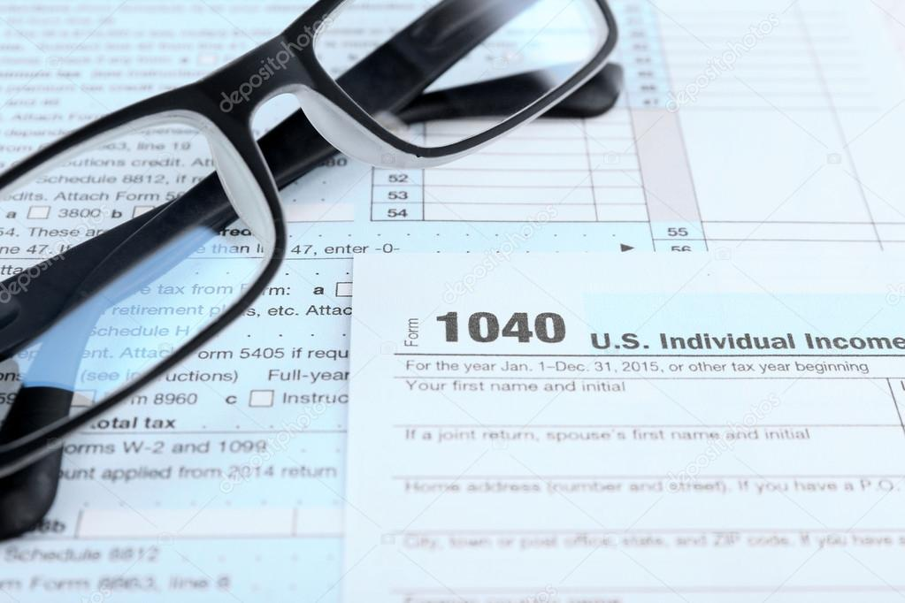 1040 Income Tax Form Stock Photo C Belchonock 105176312
