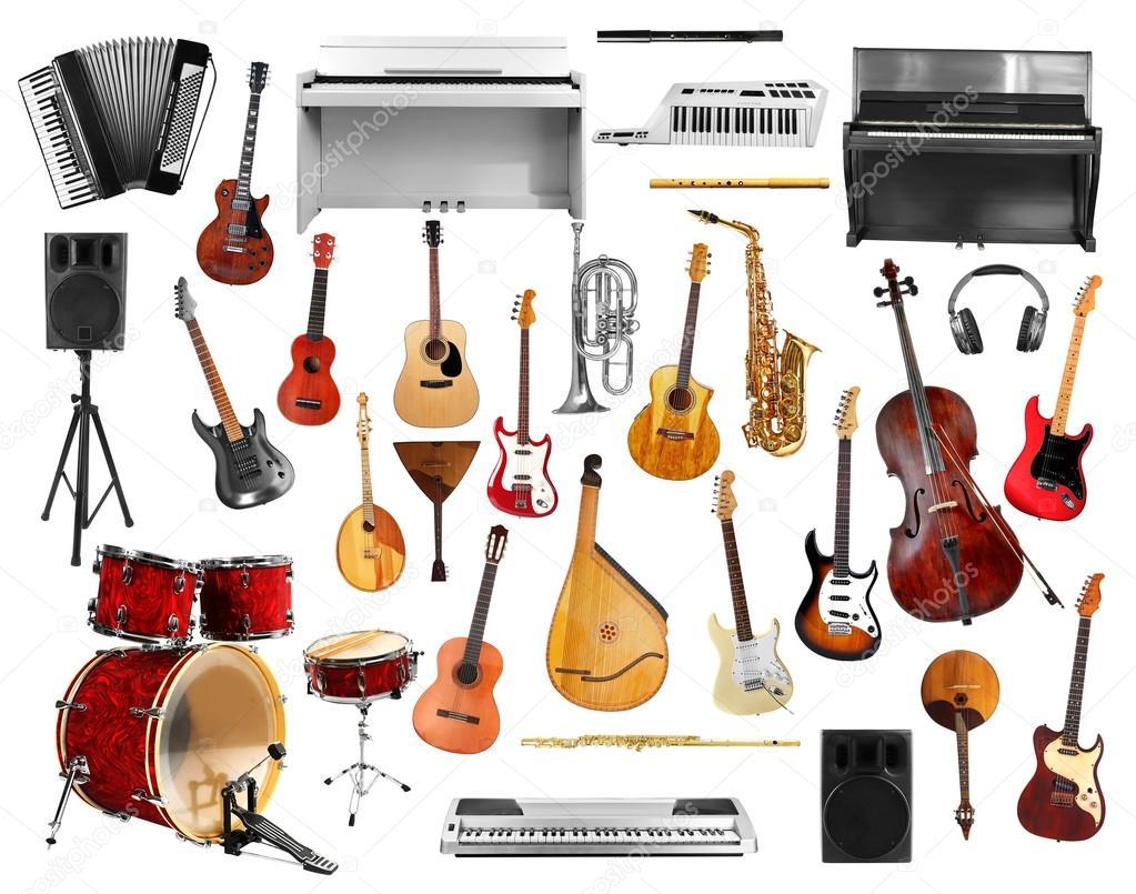 Collage De Instrumentos Musicales