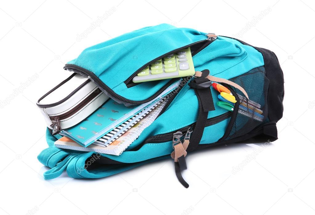 batoh školní potřeby — Stock Fotografie © belchonock  109371186 afb43f8eee