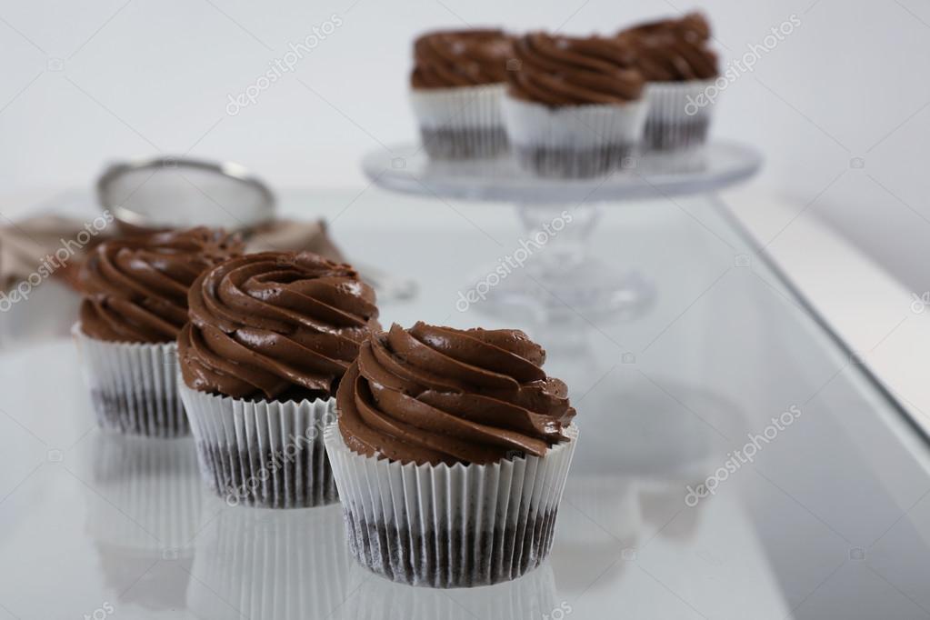 Beautiful Chocolate Cupcakes Stock Photo C Belchonock 109993912