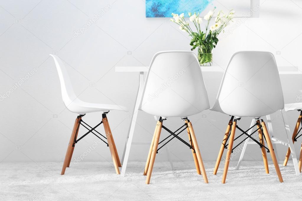 Witte moderne keukenstoelen for Witte moderne stoelen