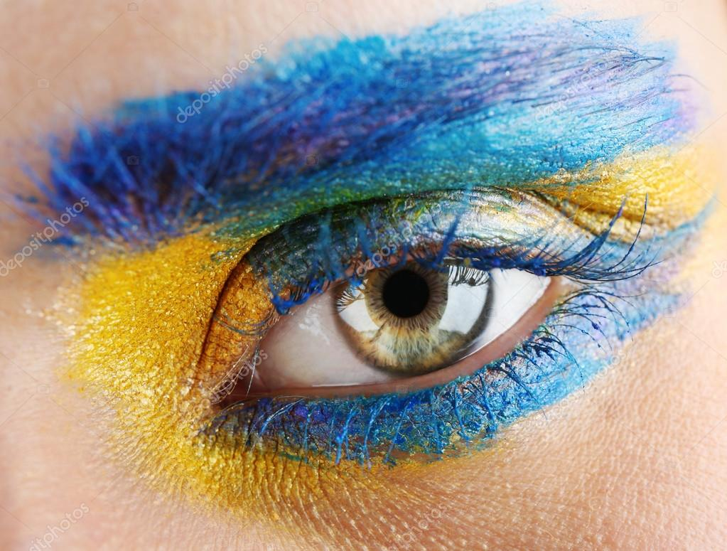 High Fashion Eye Makeup Stock Photo