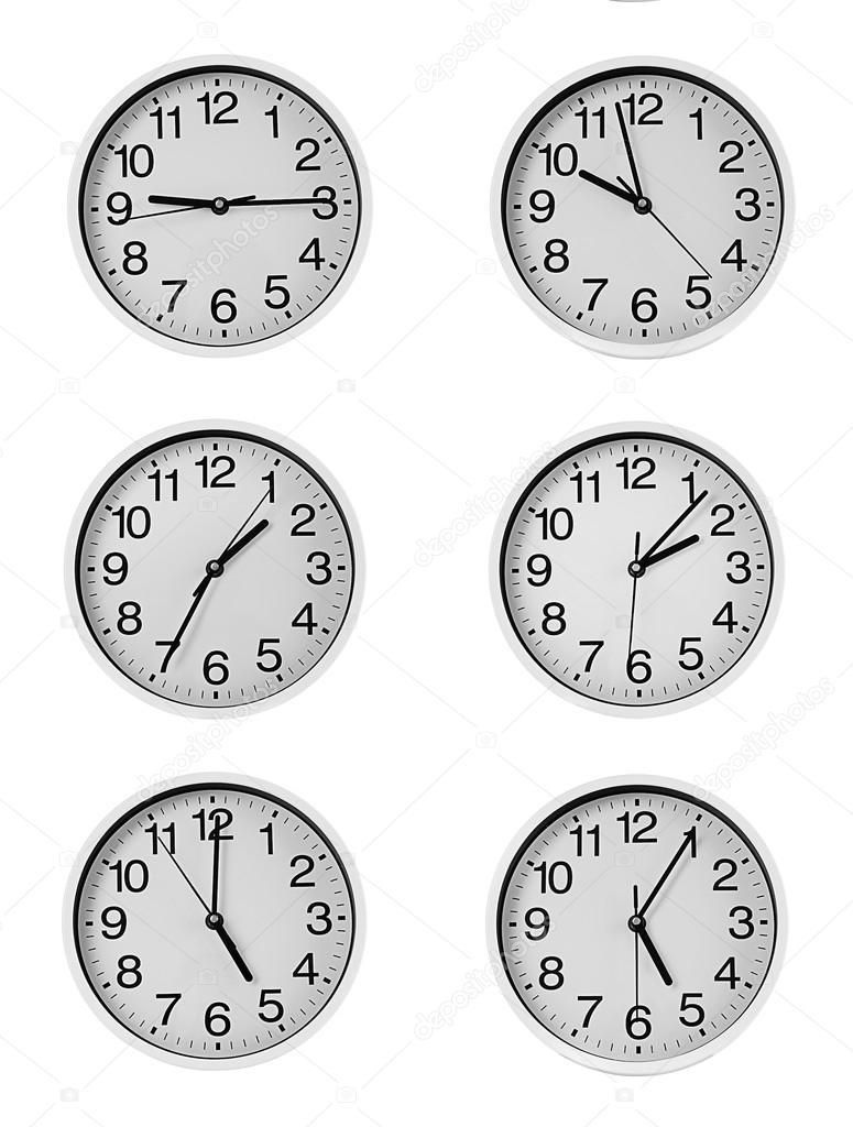 Collage Of Round Wall Clocks Stock Photo Belchonock 111246410