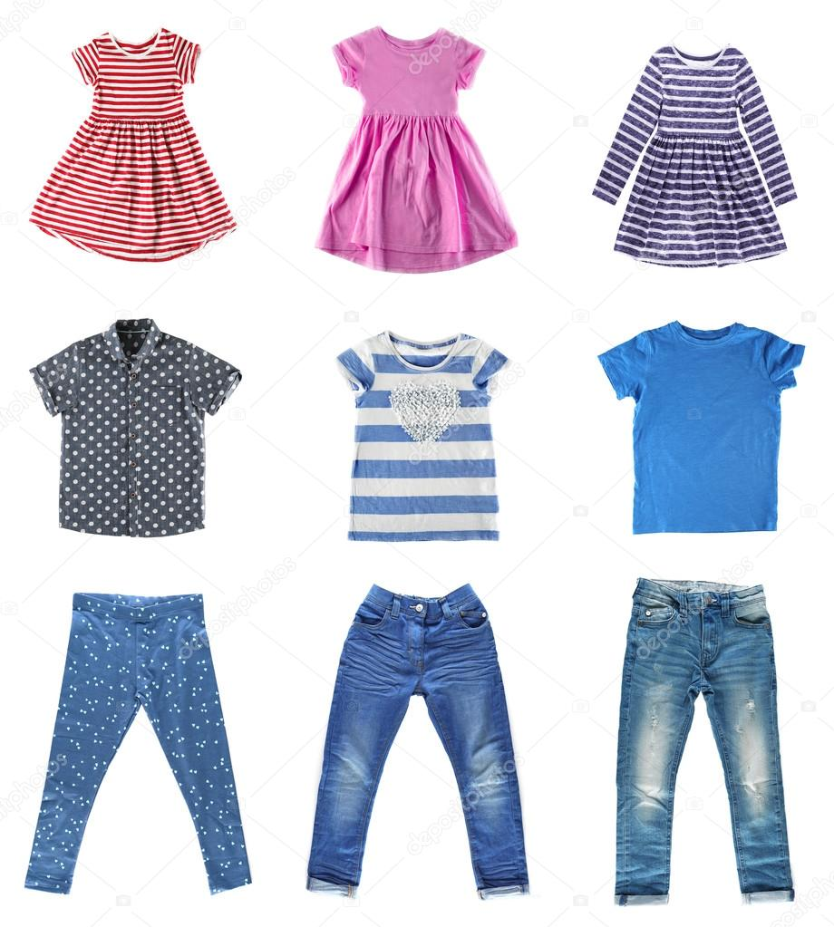 66830cb000 Collage of children clothes — Stock Photo © belchonock #111772410