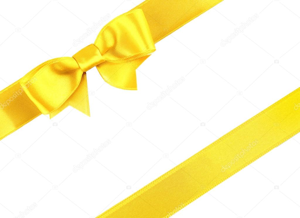 Yellow diagonal ribbons — Stock Photo © belchonock #111774466