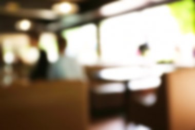 Blur abstract cafe background