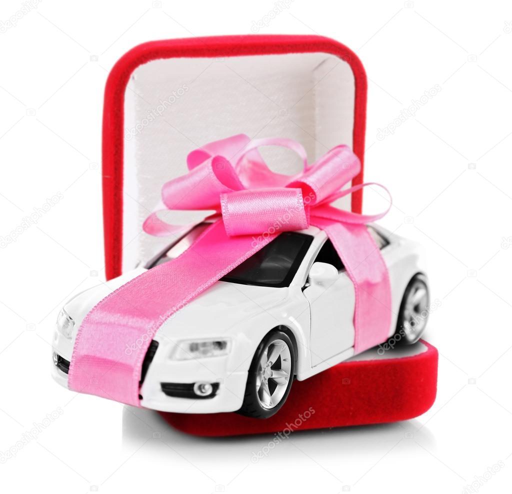 Neues Auto Als Geschenk Stockfoto C Belchonock 114783558