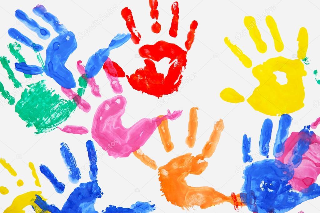 Color kids hands — Stock Photo © belchonock #116896922