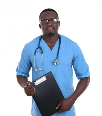 Professional African doctor