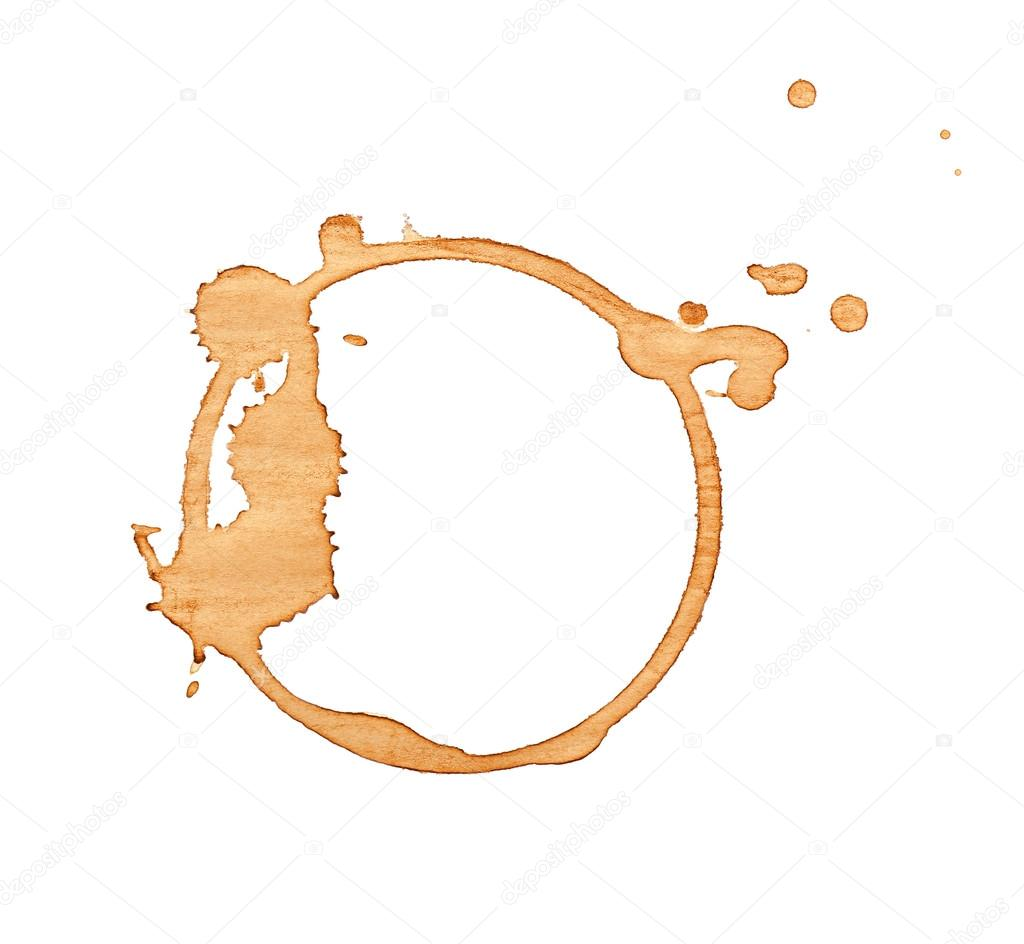 Coffee stain isolated stock photo belchonock 117026278 for Cerco illustratore