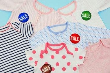 Baby clothes and tags