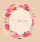 Ročník květinové karta