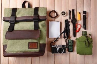 Traveler set flat lay
