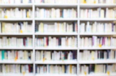 Modern library. Bookshelves of books