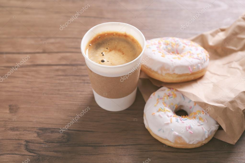 coffee and doughnuts