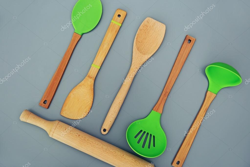 Colorful Kitchen utensils — Stock Photo © belchonock #119117858