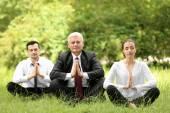Podnikatelé v meditaci představovat