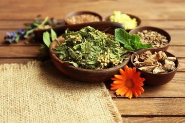 Herb selection used in herbal medicine