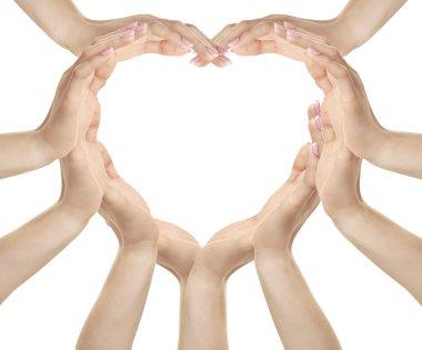 Female hands making heart shape